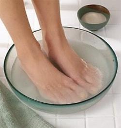 Солевые ванночки при пяточной шпоре